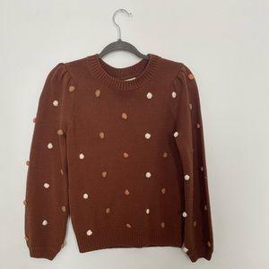 Fall PomPom Sweater